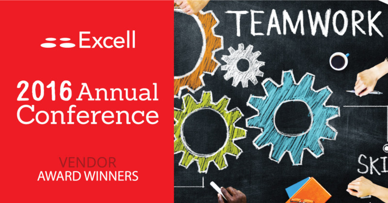 Excell announces 2015 annual Vendor winners at Conference.
