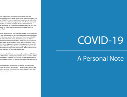 COVID19: A Letter from our CEO
